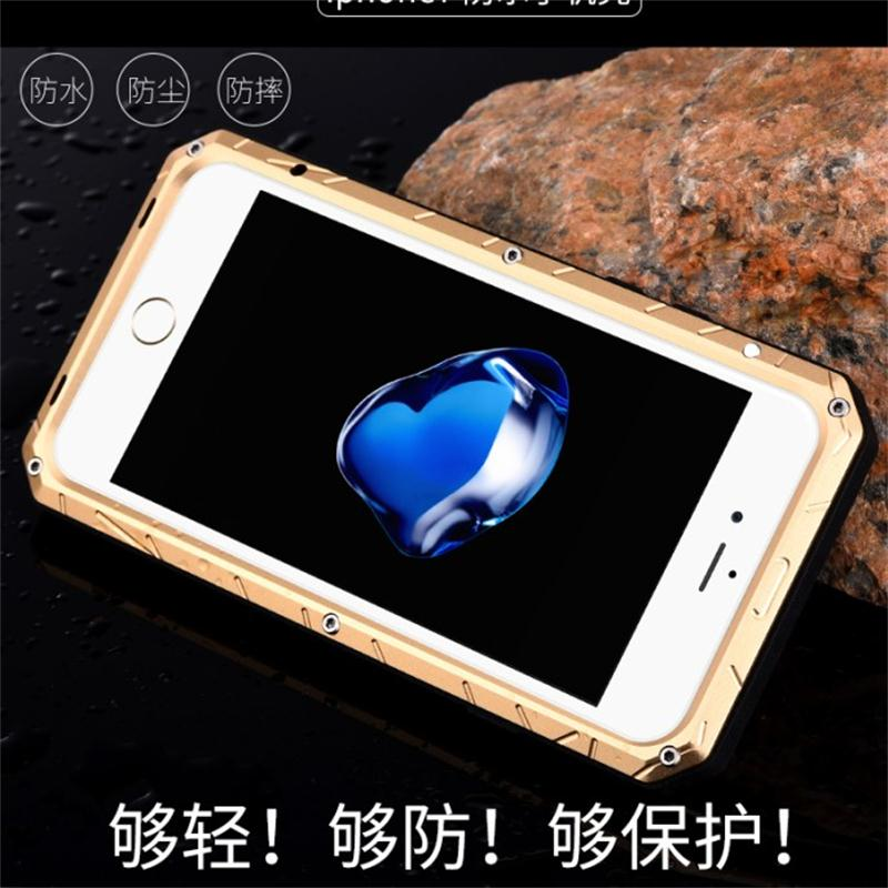 Iphone7plus metal three anti shell apple 7 phone shell drop resistance protective sleeve 5.5 inch 4.7 inch waterproof outdoor