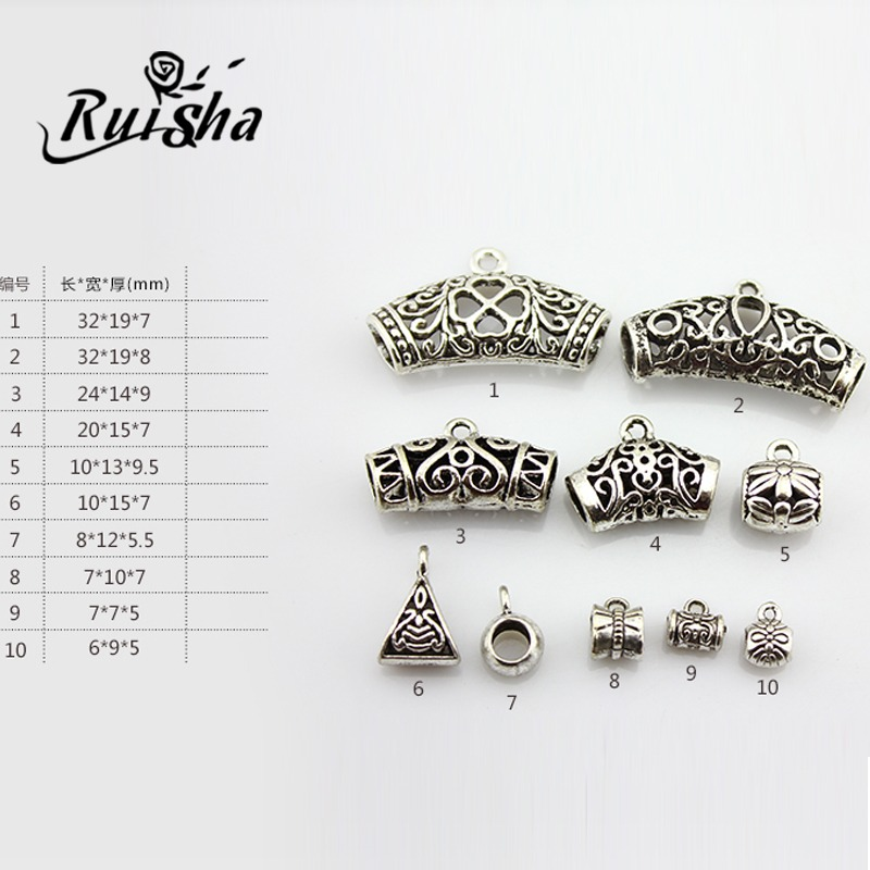 Iressa direct imitation jewelry diy accessories tibetan silver spacer beads elbow pendant bracelet necklace buckle clasp buckle hanging beads hanging tube