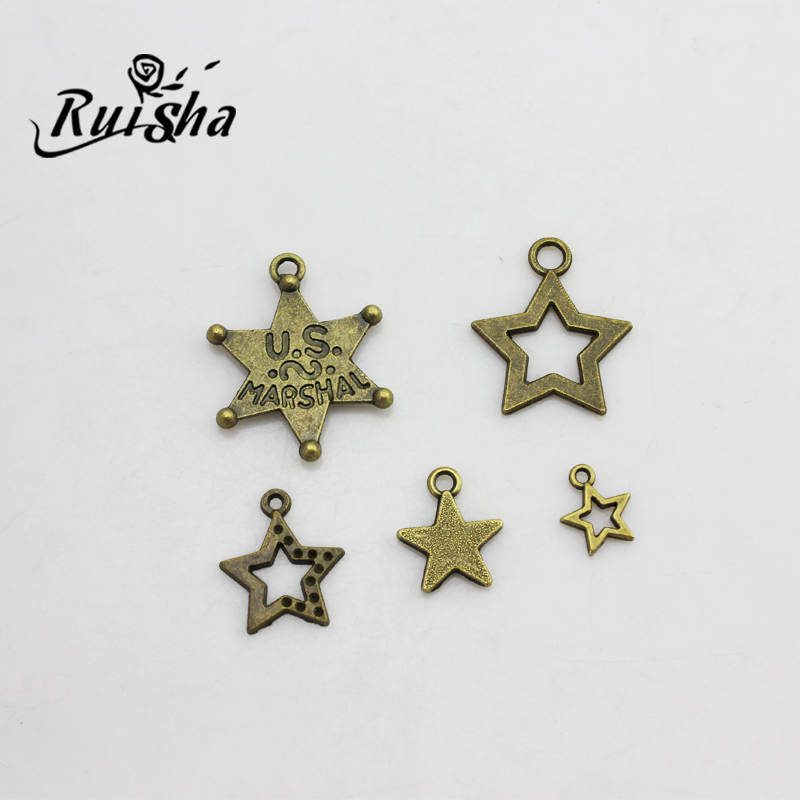 Iressa diy jewelry accessories handmade materials retro bracelet hexagram pentagram pendant cute mini