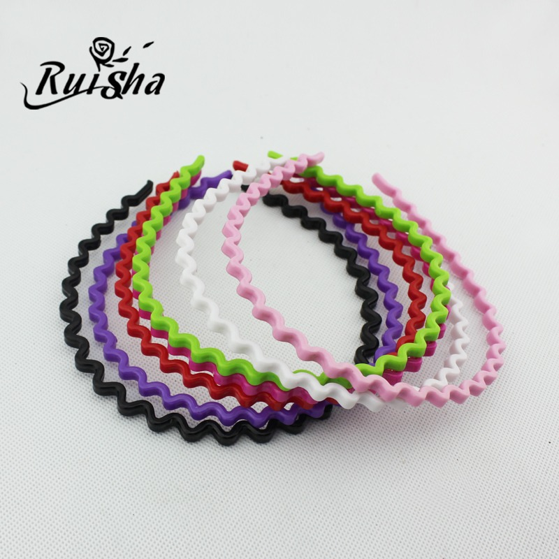 Iressa korean headdress hair accessories candy colored plastic wavy hair hoop headband fine hair hoop hairpin hairpin korea