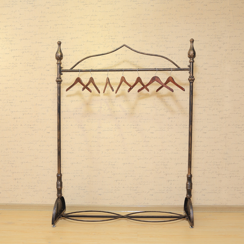 Iron clothing rack clothing store clothing store shelf floor display racks for men and women hanging clothes rack shelf display rack retro