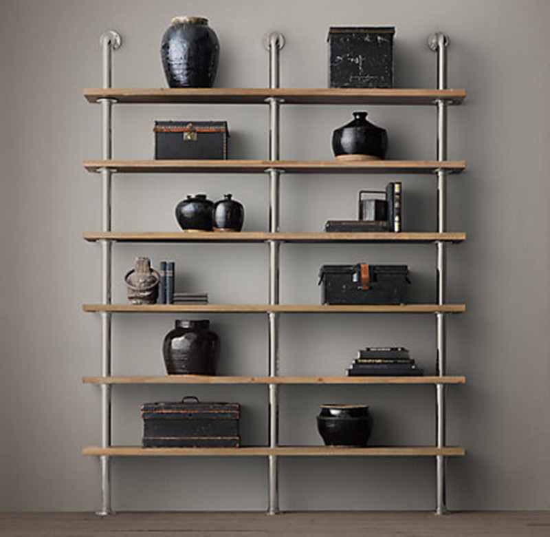 Get Quotations Iron Decorated Home Loft Vintage Wood Wall Mount Shelf Bookcase American Antique Wrought