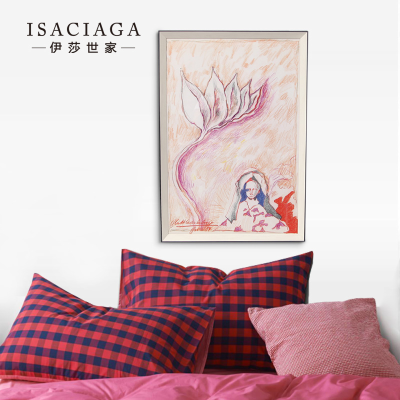 Isa family modern minimalist living room decorative painting paintings office hotel decoration art mural