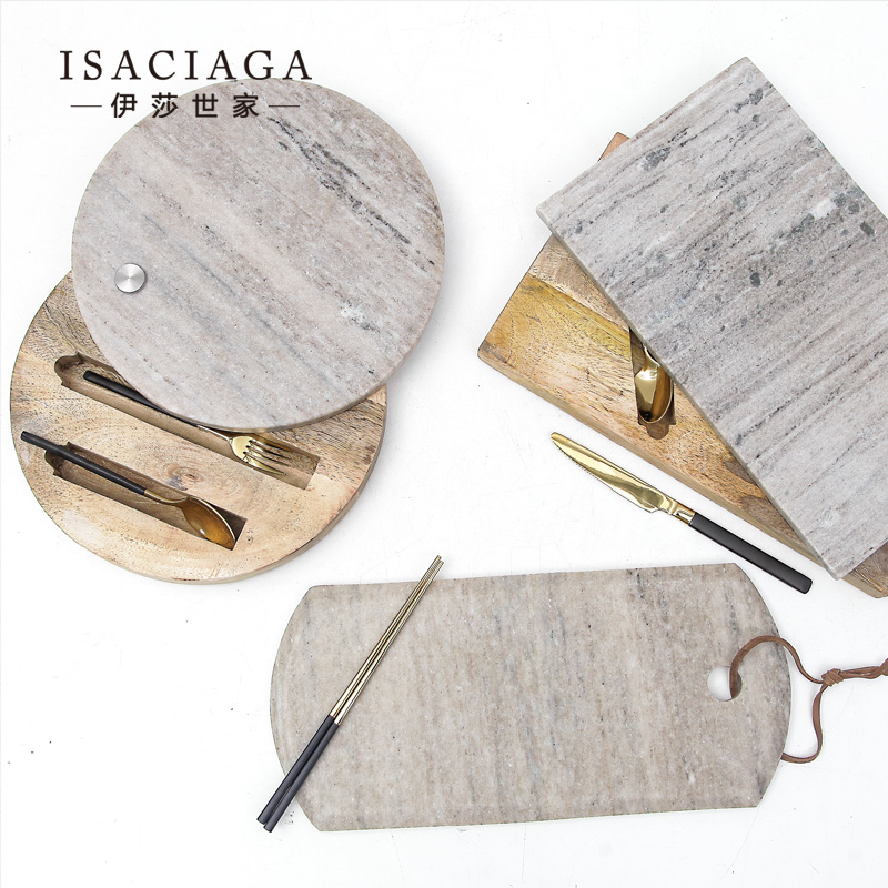 Isa family scandinavian design sense高纳ge marble cutting board/tray model room furnishings ornaments restaurant