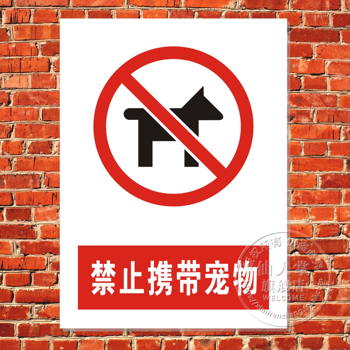 It is prohibited to carry pet cheap safety warning signs audits nameplate oem customized tips
