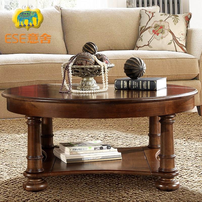 Italian american country homes ash wood coffee table round coffee table to do the old retro solid wood living room coffee table antique furniture