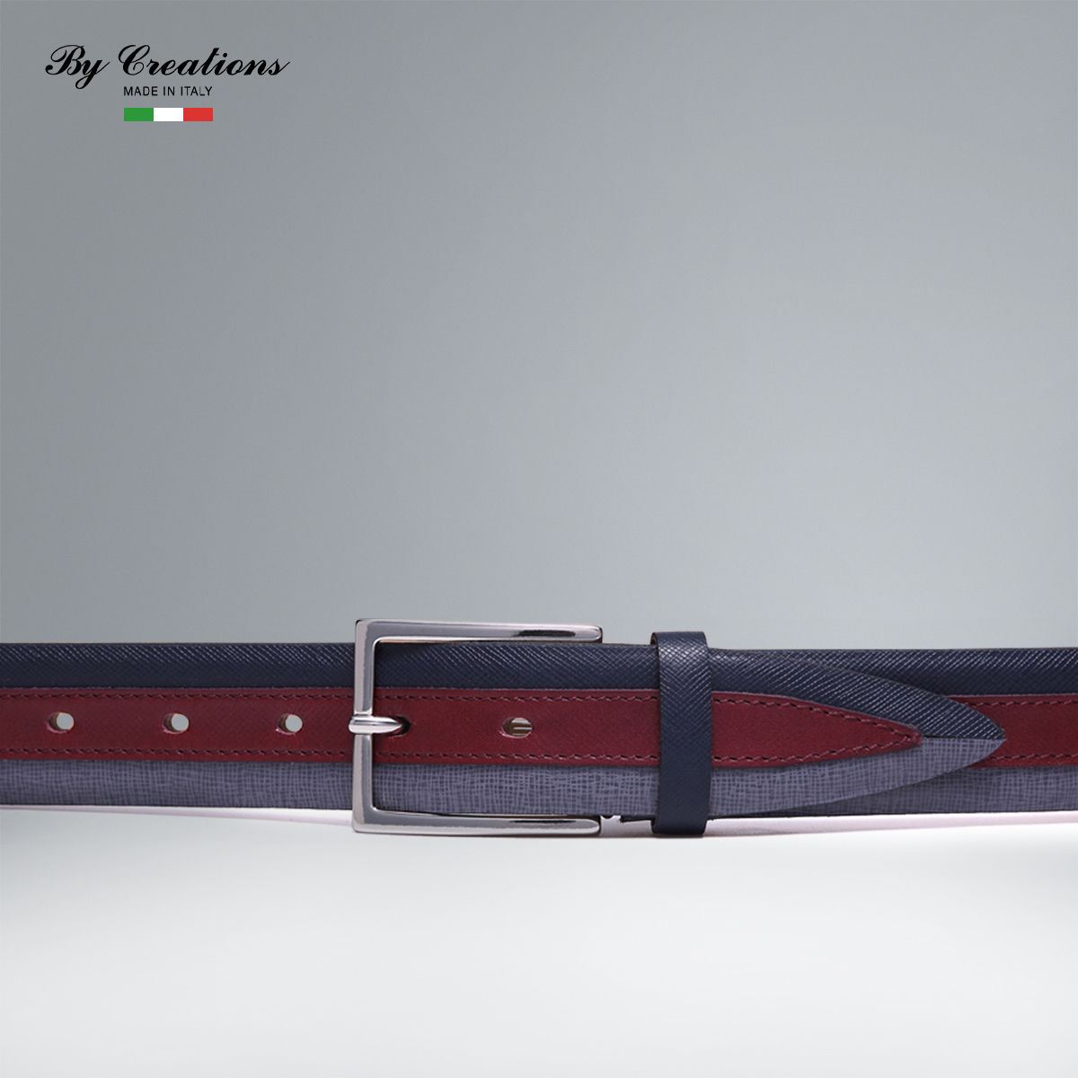 Italian handmade leather goods by creations parker products saffiano men hit color stitching men casual leather belt