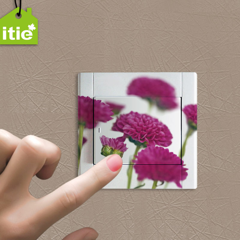 Itie love stickers wall stickers-permeable waterproof do not fade painted watercolor style color switch stickers-fragrance florid Series