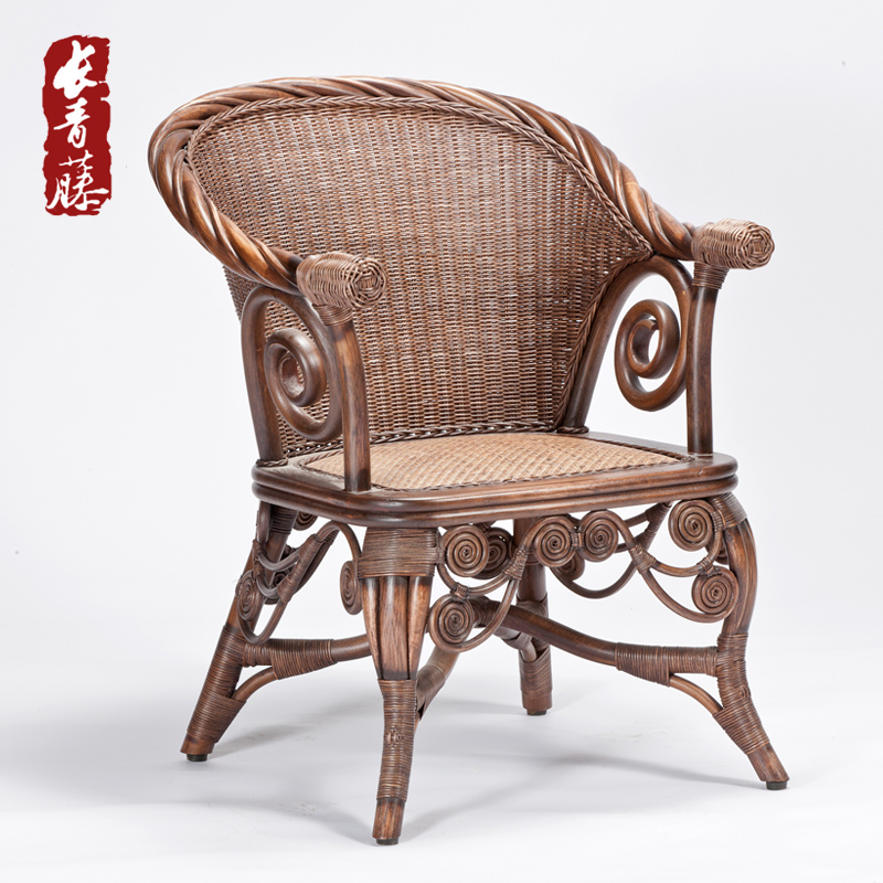 Ivy european study the living room handmade indonesian rattan chair office chair leisure chair rattan chair chairs creative fashion
