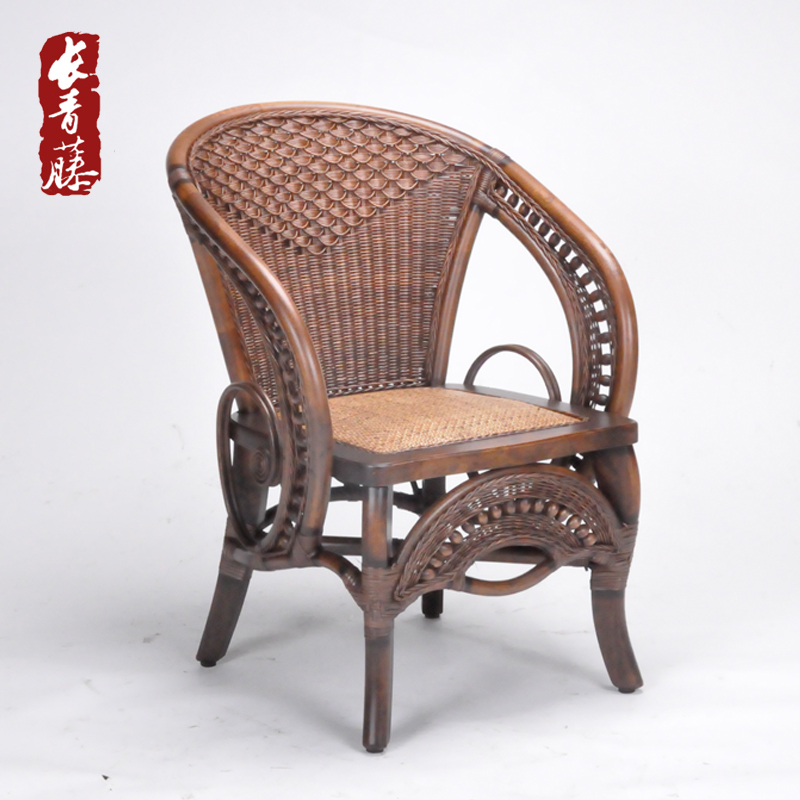 Ivy european study the living room handmade indonesian rattan lounge chair rattan chair rattan chair office chair chair creative fashion