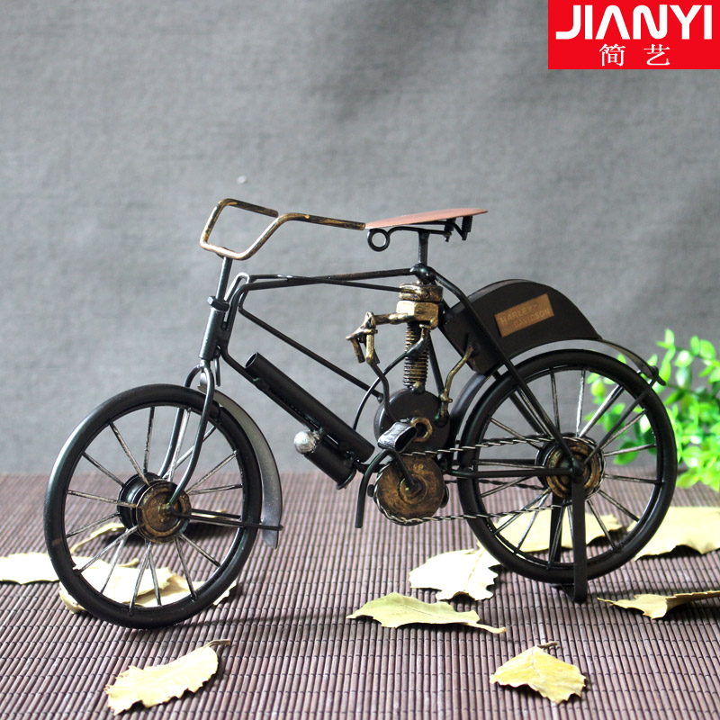 Jane arts wrought iron metal retro vintage bicycle model ornaments window table decorations put based personalized gifts
