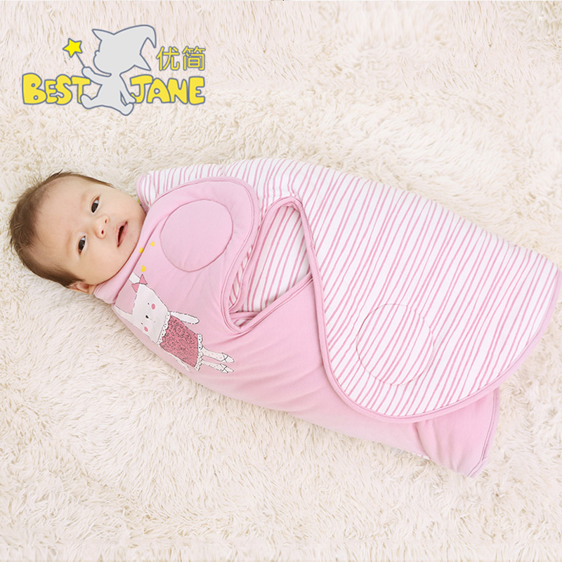 Jane excellent baby swaddle hold is coated cotton baojin newborn baby blankets fall and winter winter newborn child supplies