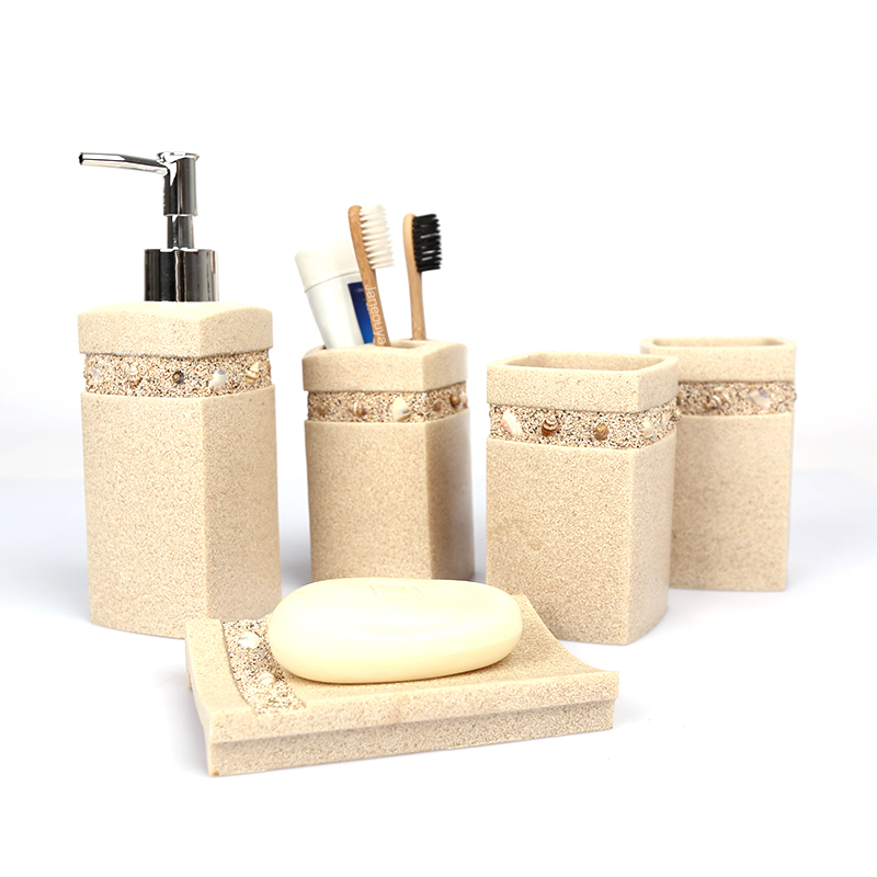 Janeouya european fashion creative sand shell resin bathroom suite bathroom wujiantao loaded to send a friend a gift
