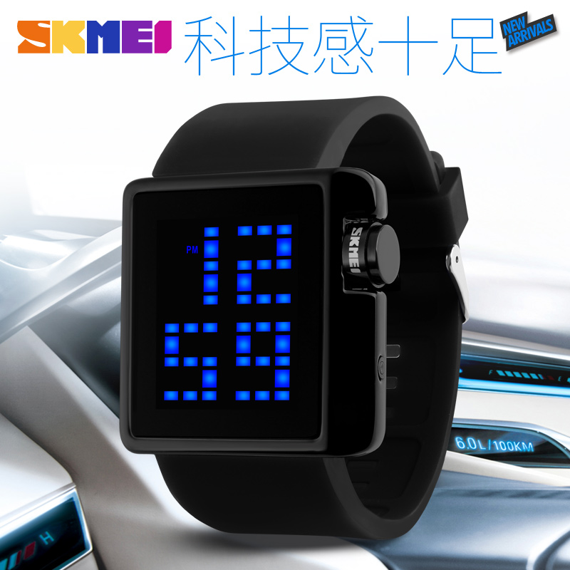 Japan and south korea trend of the moment us large digital electronic watches fashion watches for men and women neutral led luminous electronic table