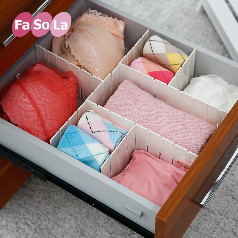 Japan fasola drawer partitions free combination finishing drawer partitions separating income nag classification plastic spacer