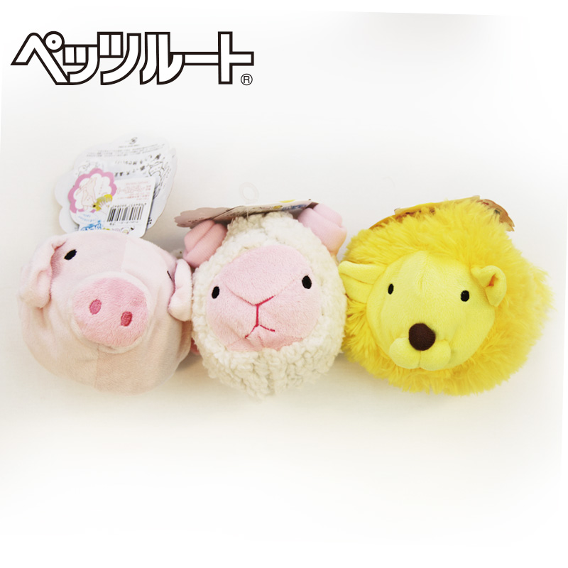 Japan has sent zi lu petzroute forest large plush toy rattles sound toys dog toys