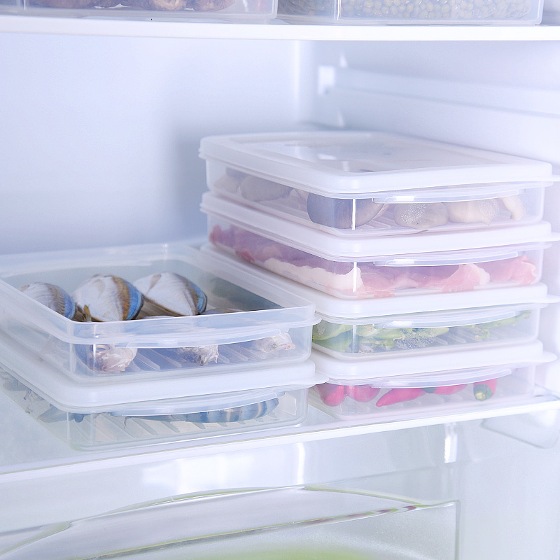 Japan imported refrigerator crisper fresh frozen meat frozen food box storage box plastic food container sealed box