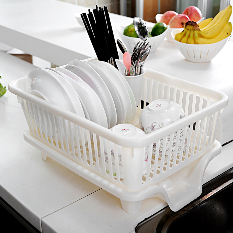 Japan imports sanko drain rack dish rack kitchen dishes drain drain rack storage rack plastic dishes drain basket