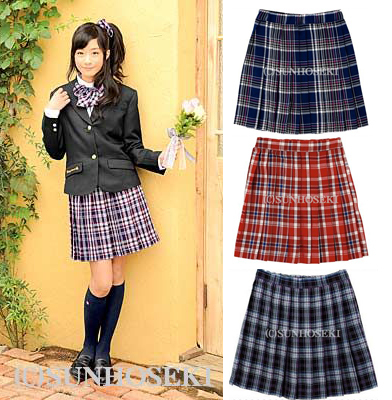 b7a16cf90 Get Quotations · Japanese students plaid skirt pleated skirts british style school  uniforms fancypocket student plaid skirt