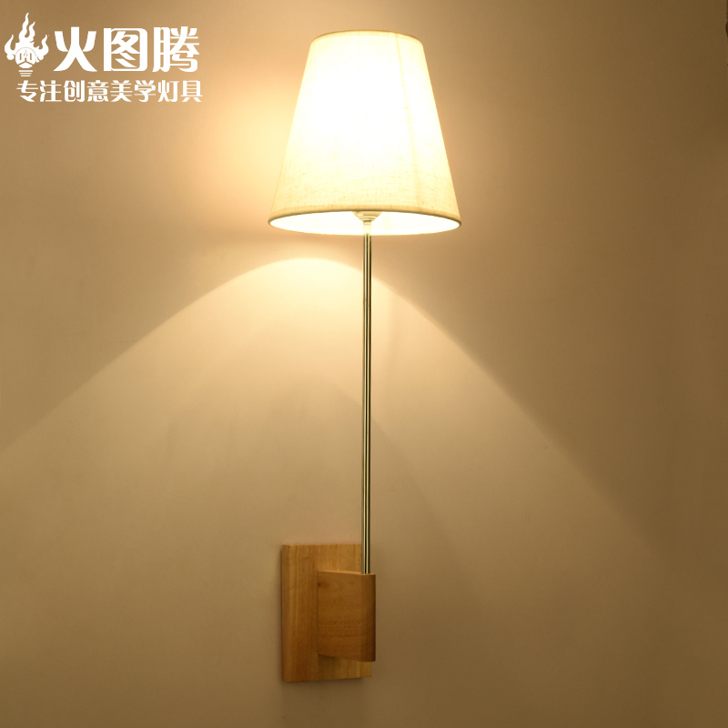 Japanese wood minimalist modern chinese wall lamp bedside lamp creative nordic bedroom hallway wall lamp wall lamp wall lamp wall lamp hotel project