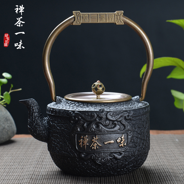 Japanese zen tea blindly pure iron gilt handmade cast iron pot cast iron pot old iron pot iron teapot boiling water