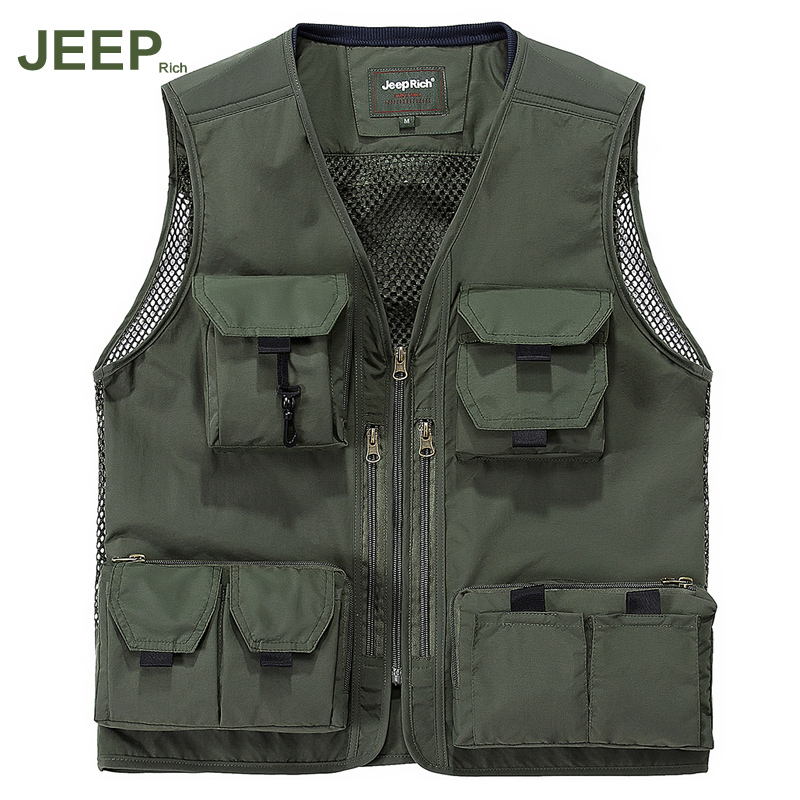 Jeep rich outdoor climbing sports vest waistcoat big yards military jeep thin mesh vest vest men