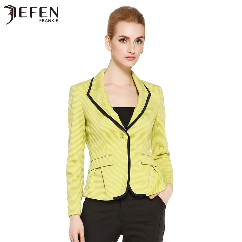 Jefen giffen 2015 spring and summer new italian micro elastic waist slim lapel long sleeve suit suit female