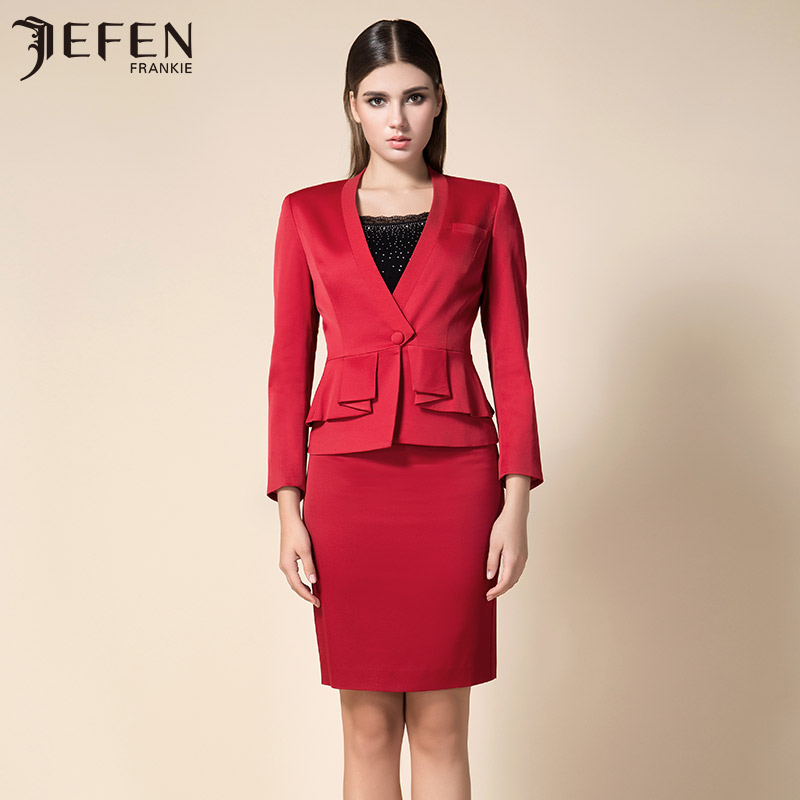Jefen giffen new suit female italian stretch satin melanura sleeved suit outside sleeve