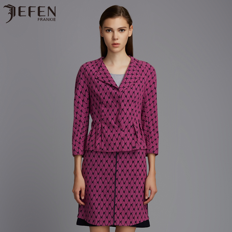 Jefen giffen suit new spring and summer v-neck suit senior italian design
