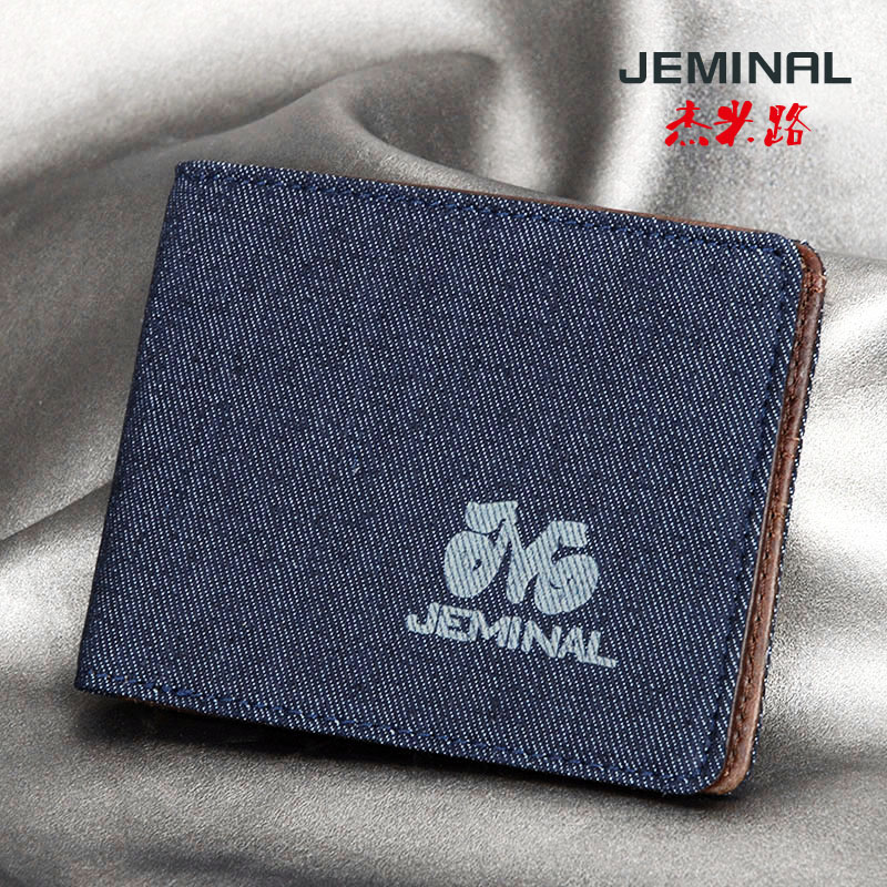 Jeminal/jaimie road canvas wallet men wallet short paragraph cross section free shipping new men's short wallet real leather inside
