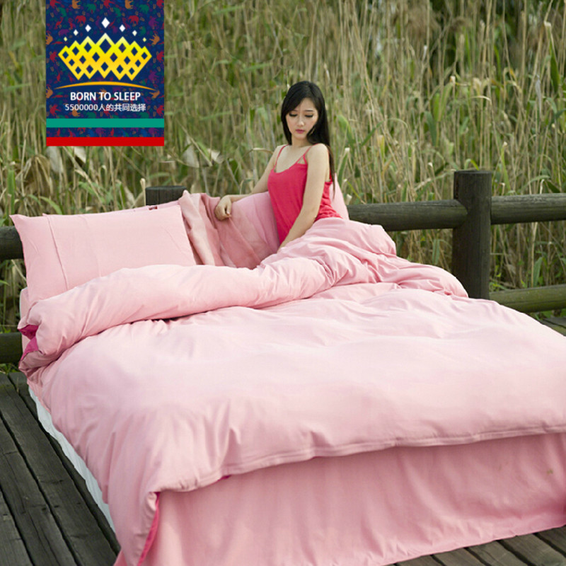 Jennifer lang denim textile korean family of four sheets of plain solid color quilt bed enterprises bed enterprises bedding a family of 4 is set