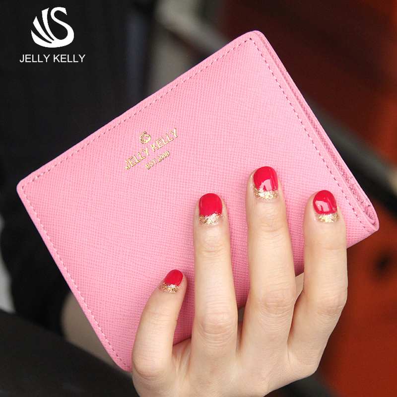 Jerry kelly leather wallet 2015 new ladies fashion leather buckle short paragraph small wallet folded wallet bag