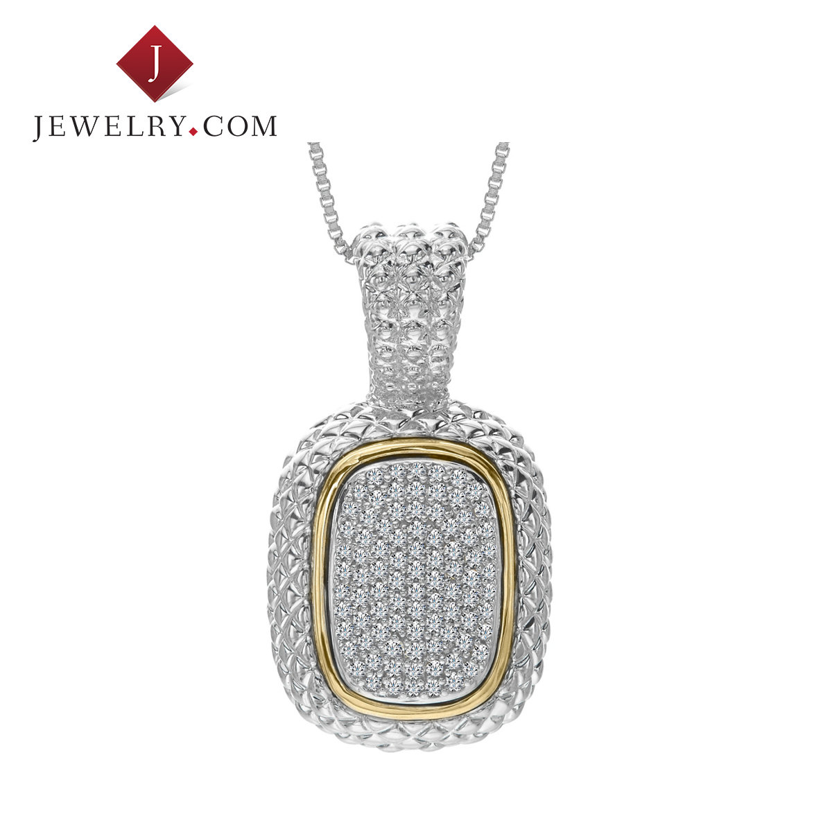Jewelry.com official 0.5 karat k gold diamond sterling silver pendant fashion simple atmospheric female models jewelry