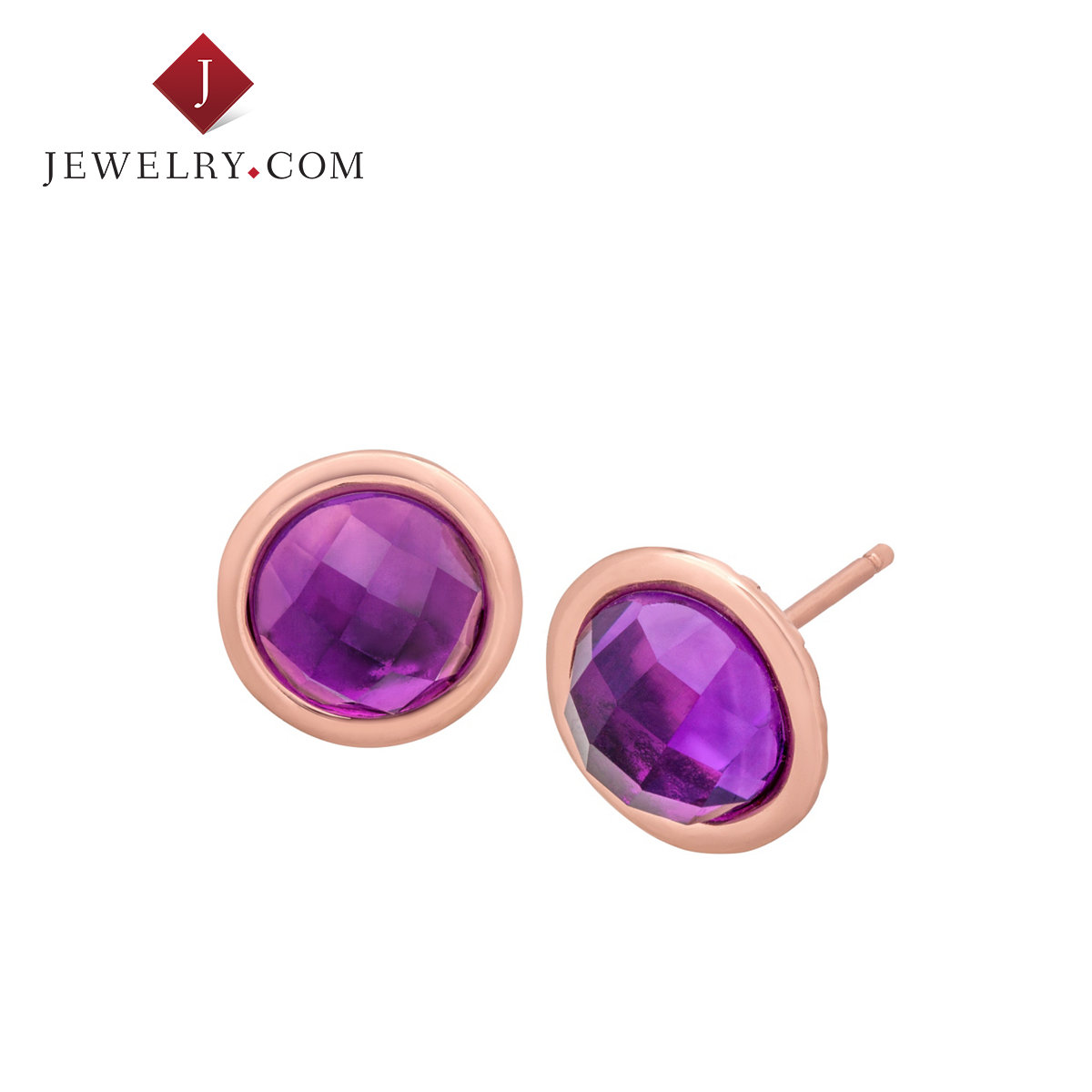 Jewelry.com official cecectomized ms. earrings 75ct k rose gold plated bronze amethyst charm jewelry