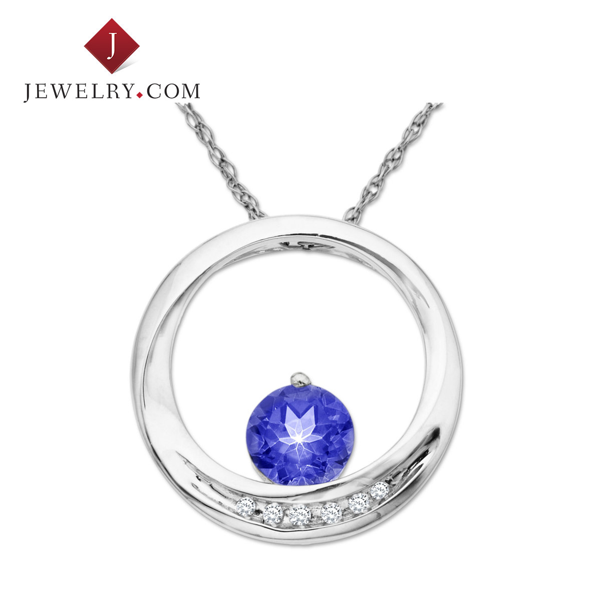 Jewelry.com official k gold sapphire necklaces