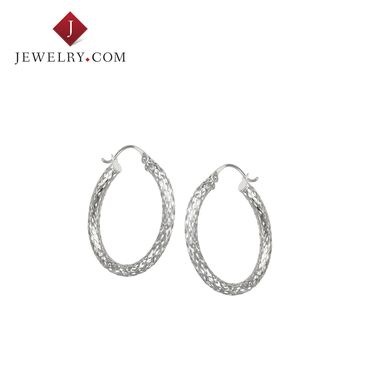 Jewelry.com official k white gold twist chain ms. classic stylish atmosphere earrings creative new