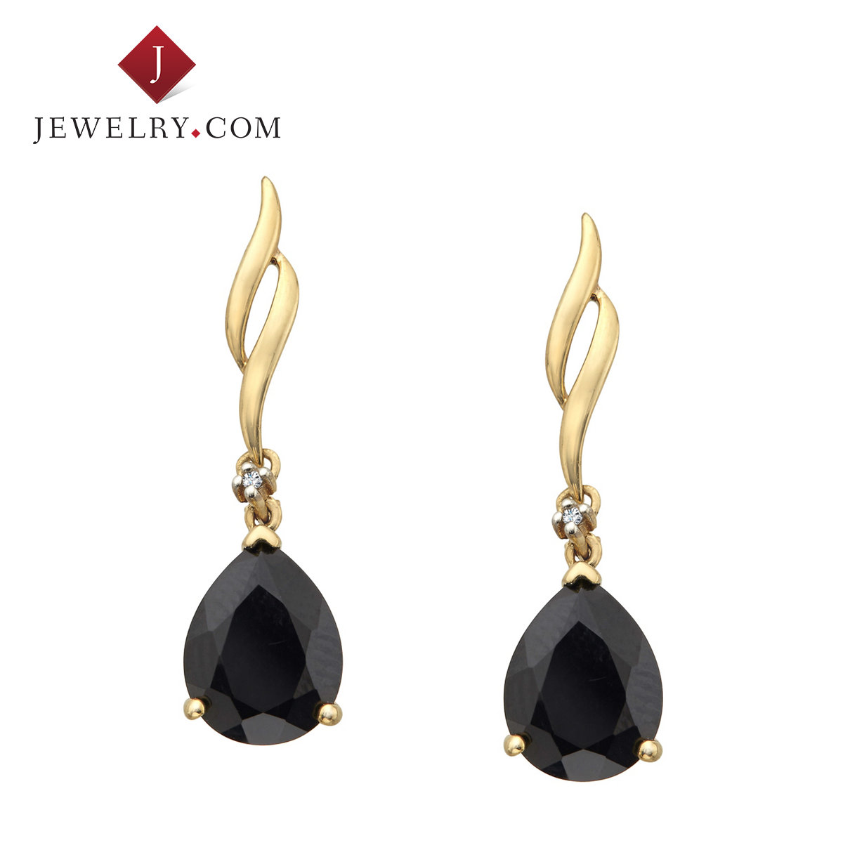 Jewelry.com official onxy k gold diamond jewelry fashion earrings elegant lady mature charm