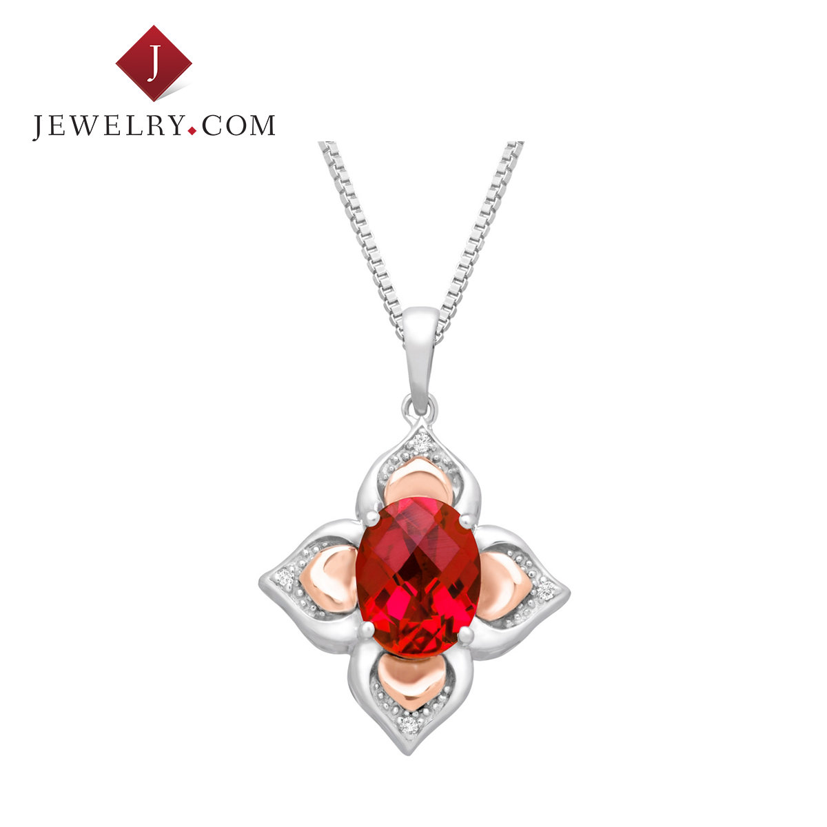 Jewelry.com official silver 925 k rose gold ruby diamond elegant fashion female models pendant charm