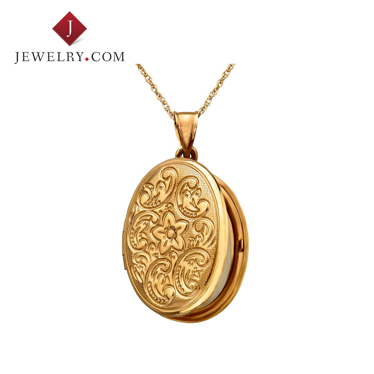 Jewelry.com official silver plated 925 k gold pendant exquisite little box style ladies elegant retro style jewelry