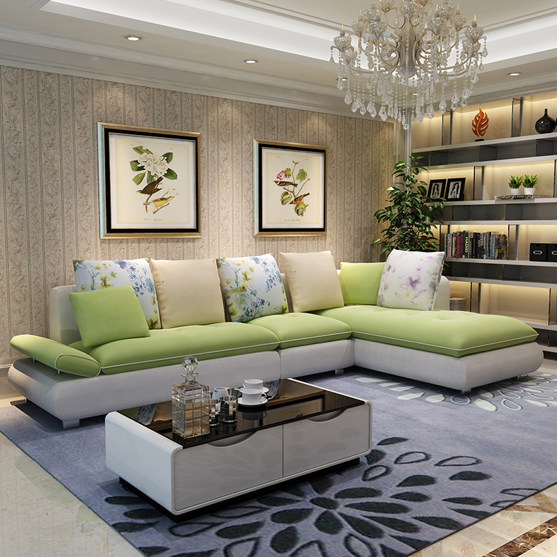 Jf L Shaped Living Room Furniture Corner Apartment Size Sofa Fabric Minimalist Washable Combination In Price On Alibaba