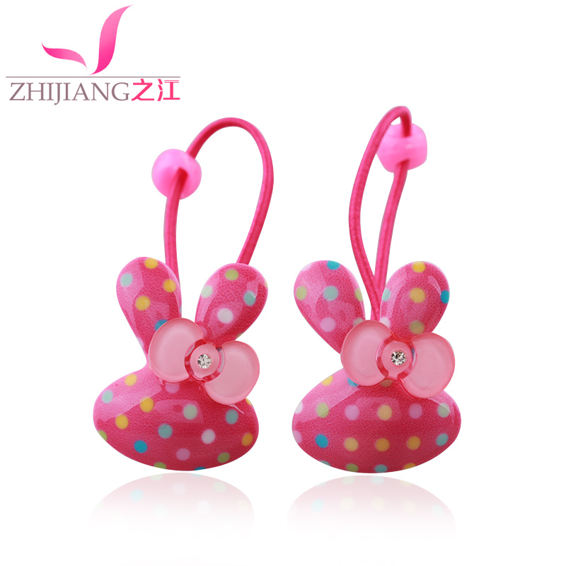Jiang children headdress high elastic rubber band tousheng cute girls child baby girls rabbit ears hair ring hair rope hair accessories