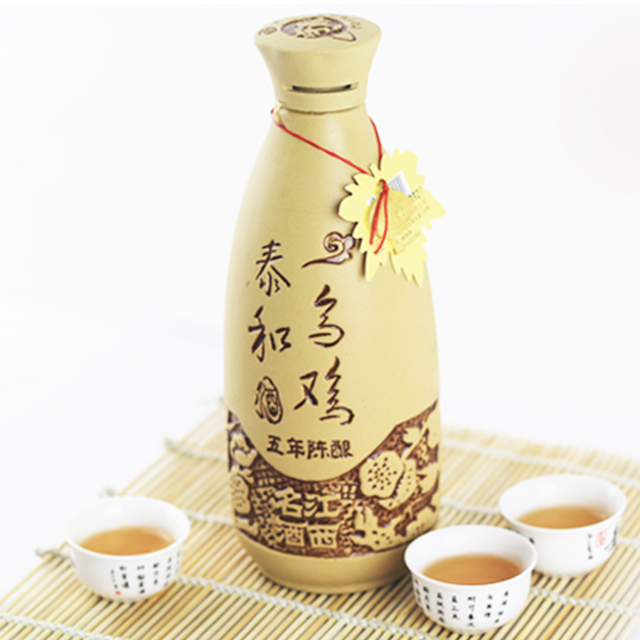 Jiangxi jinggangshan specialty taihe wuji wine wine shuijiu hakka glutinous rice wine farm brewed rice wine red wine