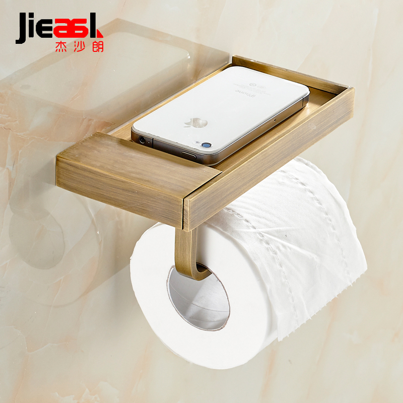 Jie shalang all copper antique waterproof paper towels towel rack box box rack creative rewinder toilet hygiene carton
