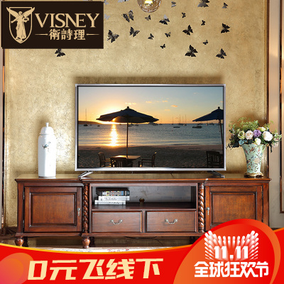 Jill rationale furniture t.j. american solid wood tv cabinet combination living room cabinet european audiovisual cabinet lockers m6