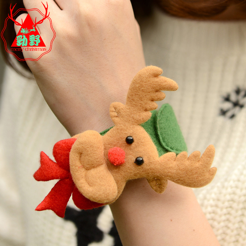 Jin ye children christmas decorations christmas pat circle pops circle handcuff bracelet christmas party gift