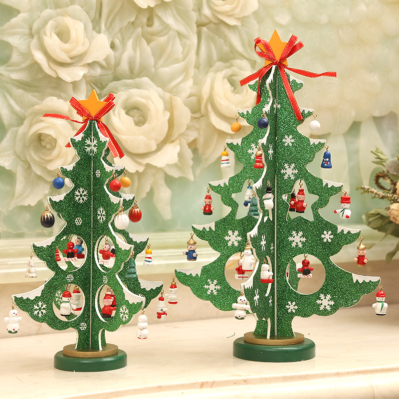 get quotations jin ye dusted 29cm creative wooden three dimensional wooden christmas tree decorations christmas decorations christmas