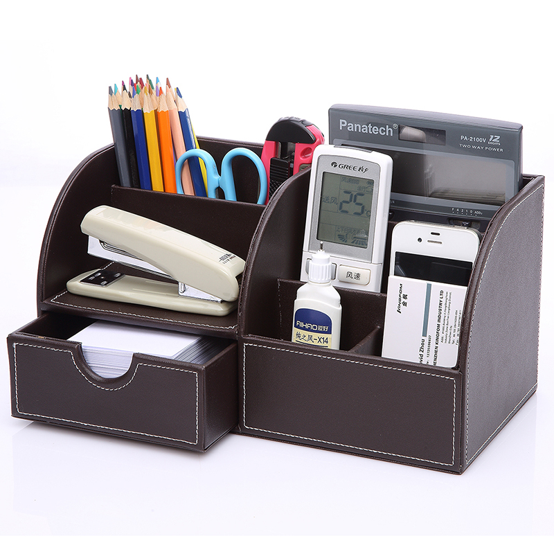 Jinfeng leather cosmetic storage box korea office desktop remote control storage box storage box skincare