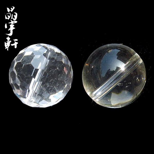 Jing yu xuan genuine natural white crystal faceted loose beads handmade beads diy semifinished accessories peizhu