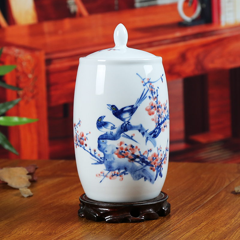 Jingdezhen blue and white ceramic canisters canister ornaments decorate the living room minimalist modern home crafts