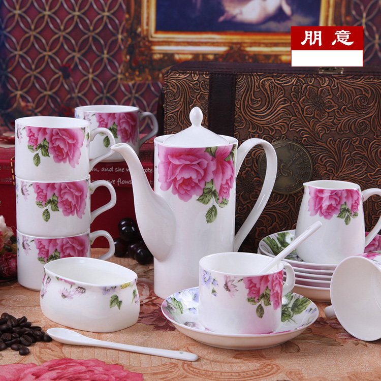 Jingdezhen ceramic cup bone china mugs suit the new european creative coffee cup with saucer coffee four italian